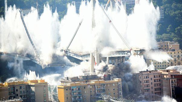 Genova: il Ponte Morandi non esiste più