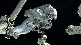 Watch: Euronews' Luca Parmitano makes spacewalk to fix ISS dark matter experiment