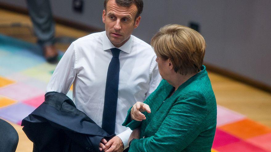 Le président français, Emmanuel Macron, et la chancelière allemande, Angela Merkel