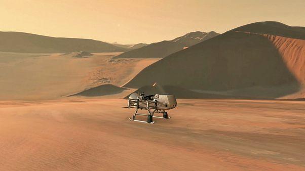ربات هلی کوپتری سنجاقک که قرار است توسط ناسا به تیتان فرستاده شود