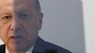 الرئيس التركي رجب طيب إردوغان في قمة مجموعة العشرين في أوساكا باليابان. حزيران/2019