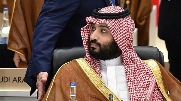 محمد بن سلمان خلال حضوره ختام قمة مجموعة العشرين