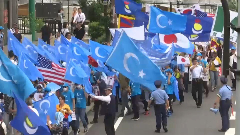 Japonyada Doğu Türkistan gösteri ile ilgili görsel sonucu