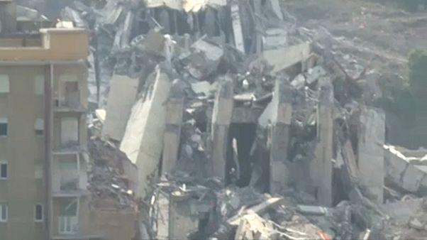 Γένοβα: Κατεδάφιση της γέφυρας που κατέρρευσε