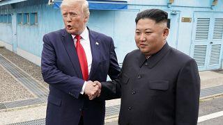 Histórico encuentro entre Donald Trump y Kim Jong-un en la zona desmilitarizada de las dos Coreas