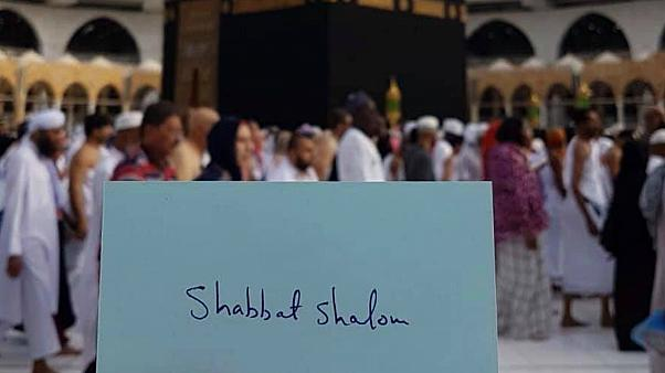صورة الرسالة من داخل باحة الكعبة