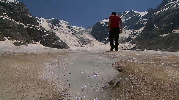 Schweizer Gletscher an Saharastaub erkrankt