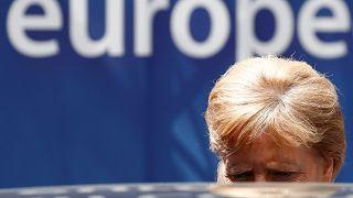 La chancelière allemande quitte le sommet européen, suspendu jusqu'à ce mardi. Bruxelles, le 01/07/2019