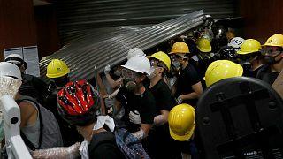 Protesters storm the Legislative Council building