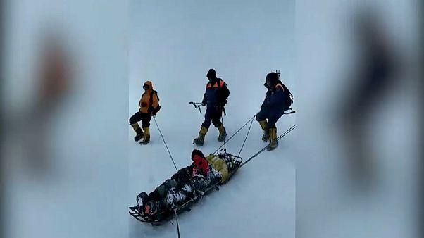 Спасение альпинистов на Эльбрусе