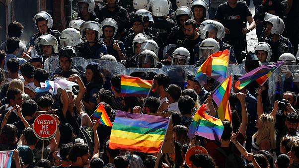 Activists march for Pride in Turkey before being dispersed by police