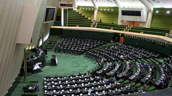 منظر عام للبرلمان الإيراني في طهران