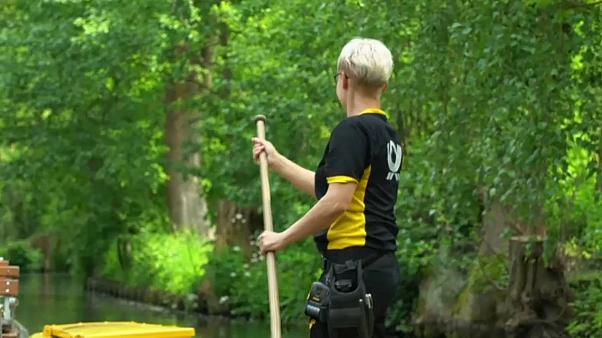 Watch: Postwoman in Germany makes all of her deliveries by boat