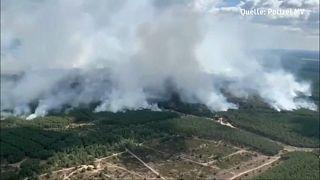 Óriási tűz Németországban