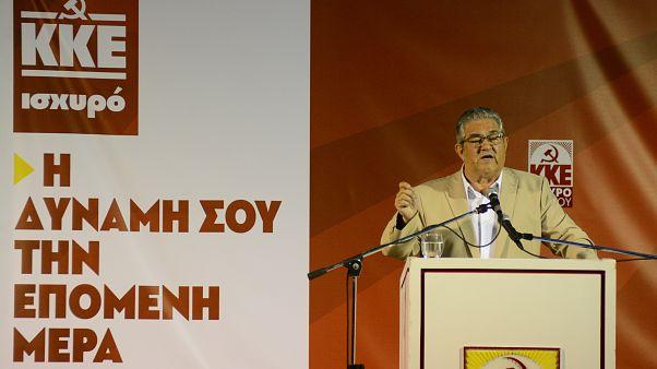 Ο ΓΓ της ΚΕ του ΚΚΕ, Δημήτρης Κουτσούμπας (αρχείου)