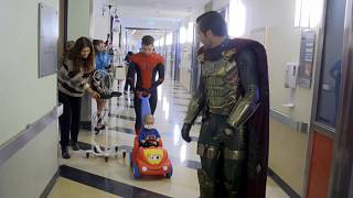 'Spider-Man' spins web of delight at children's hospital in LA