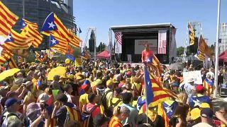 Miles de independentistas catalanes protestan en Estrasburgo