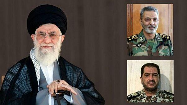 رهبر ایران در اوج تنش با آمریکا دو فرمانده عالی نظامی را تغییر داد