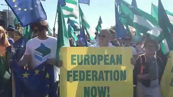 Акция молодых федералистов в Страсбурге