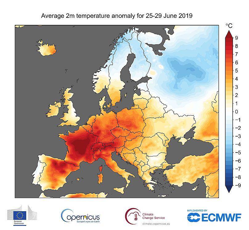 Unión Europea, Copernicus Climate Change Service, ECMWF