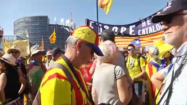 Catalan independentists mobilize in streets of Strasbourg