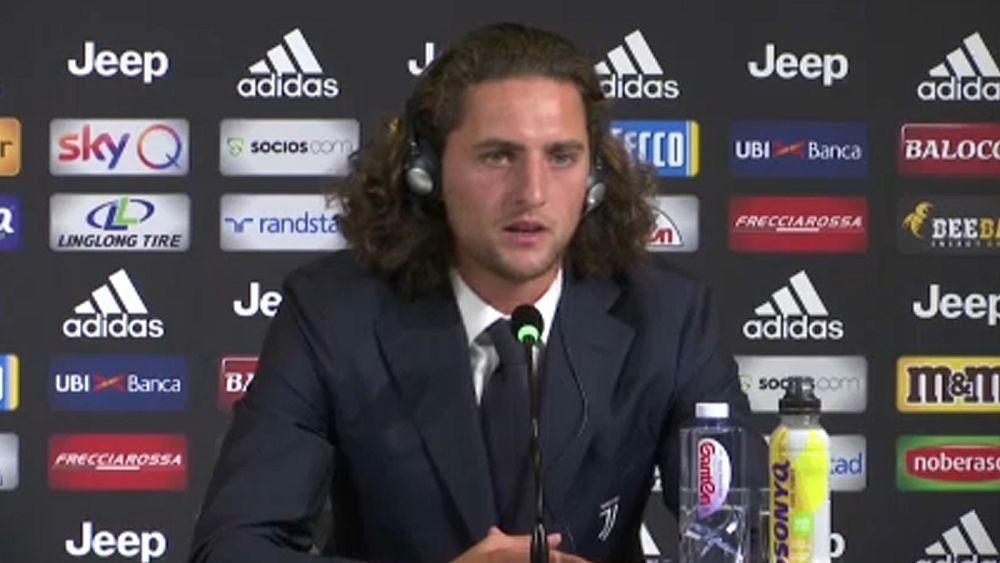 """Juventus, primo giorno in bianconero per Adrien Rabiot: """"Grazie a ..."""