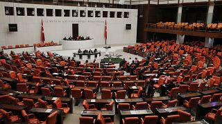 Türkiye Büyük Millet Meclisi (TBMM) Genel Kurulu, TBMM Başkanvekili Celal Adan başkanlığında toplandı. ( Doğukan Keskinkılıç - Anadolu Ajansı )