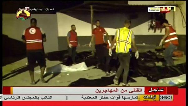 Libyen: Dutzende Tote bei Angriff auf Migrantenlager