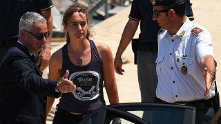 Sea Watch captain Carola Rackete was taken into custody as soon as the boat docked