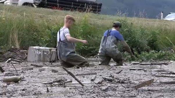 Sár mosott el egy osztrák falut