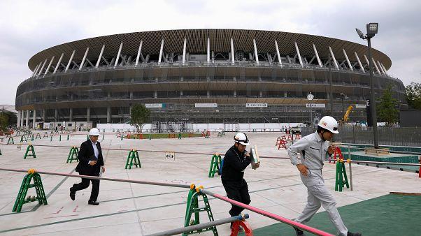 Készül a tokiói olimpiai stadion