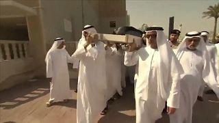 جنازة خالد القاسمي نجل حاكم إمارة الشارقة يشيع إلى مثواه الأخير بعد ان توفي في لندن.