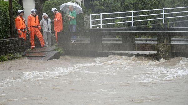 Эвакуация на острове Кюсю