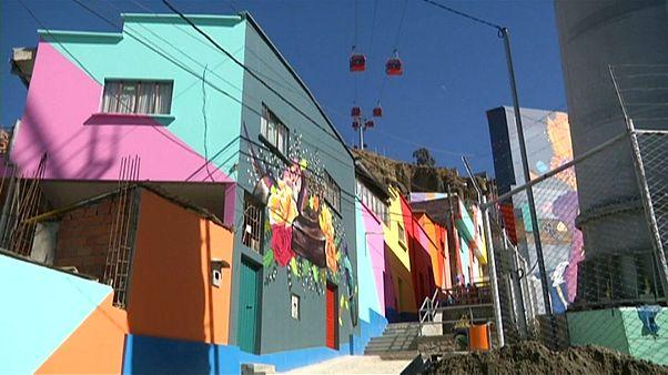 Schnappatmung garantiert: Indigene Straßenkunst in La Paz