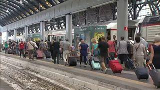 Hetekig nem járnak vonatok a Párizs-Milánó vonalon