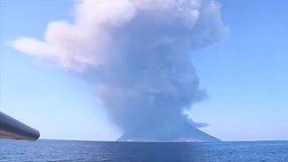Violenta y mortal erupción del volcán Estrómboli
