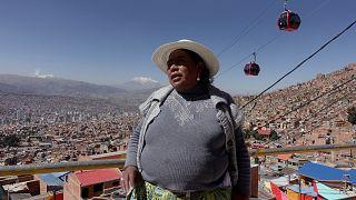 Tomasa, líder de la Revolución de los Colores de La Paz