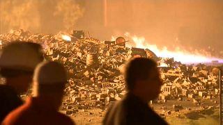 ABD'de içki deposunda yangın: 45 bin varil viski zarar gördü