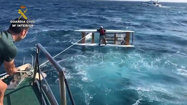 ویدئو؛ دریانورد ناامید در آبهای اسپانیا نجات یافت