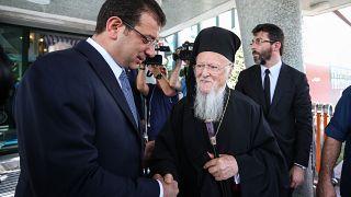 O Πατριάρχης Βαρθολομαίος με τον Εκρέμ Ιμάμογλου