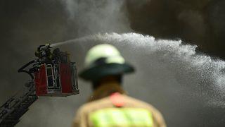 Großbrand im Dong Xuan Center in Berlin