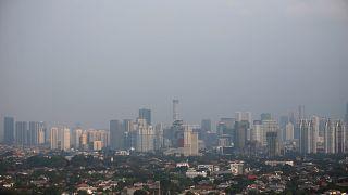 Smog permeates Jakarta City