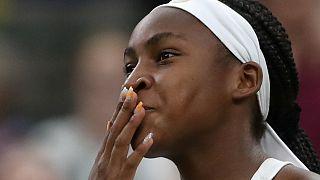 ABD'li 15 yaşındaki tenisçi Gauff, Wimbledon'da yıldızlara set vermeden rekor kırdı