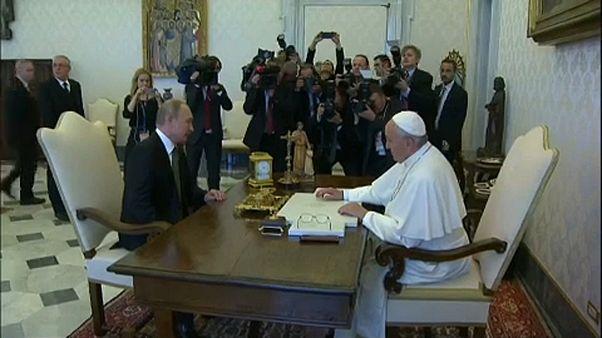 Putin foi a Roma e ao Vaticano