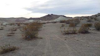 Vue de la Searles Valley dans le désert des Mojaves