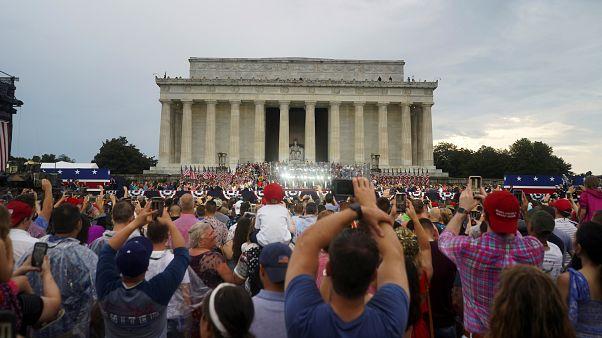 Trump presume de poderío militar en la fiesta del 4 de julio