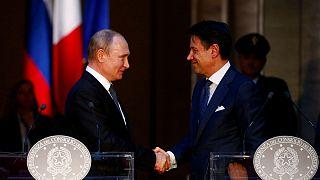 پوتین: ایتالیا رابطه روسیه و اتحادیه اروپا را ترمیم کند