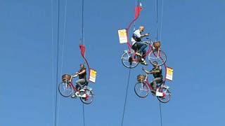 Watch: Flying bicycles spotted in Brussels as Tour de France fever takes hold