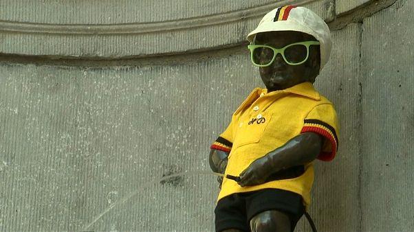 Tour de France: Bruxelles e il Manneken Pis si vestono di giallo