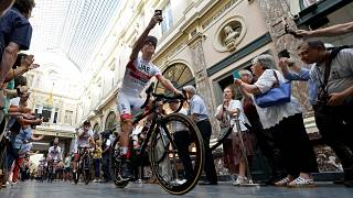 Rui Costa na apresentação do Tour em Bruxelas